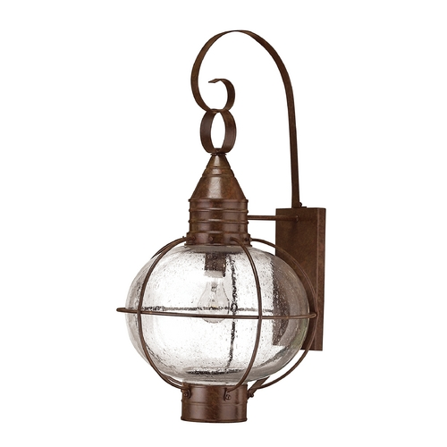 Hinkley Lighting Seeded Glass Outdoor Wall Light Bronze Hinkley Lighting 2205SZ