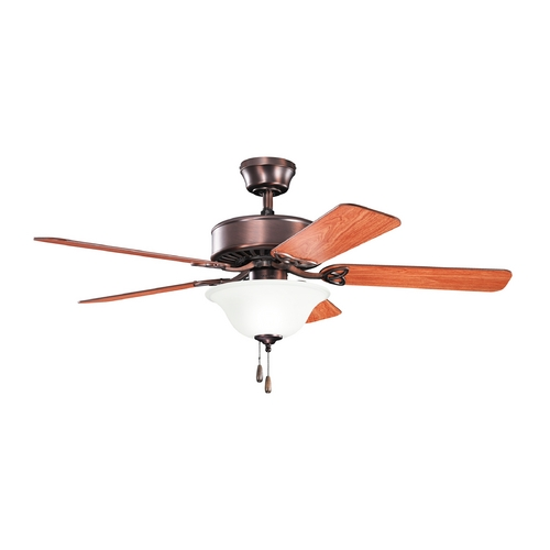 Kichler Lighting Kichler Lighting Renew Select Es Oil Brushed Bronze Ceiling Fan with Light 330103OBB