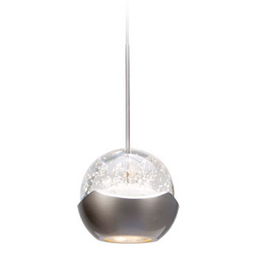 WAC Lighting Wac Lighting Industrial Collection Chrome LED Mini-Pendant with Bowl / Dome Shade MP-LED311-BN/CH