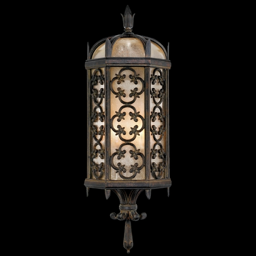 Fine Art Lamps Fine Art Lamps Costa Del Sol Marbella Wrought Iron Outdoor Wall Light 329681ST
