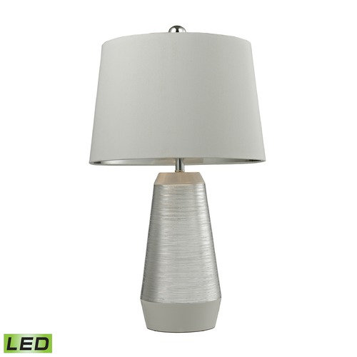 Dimond Lighting Dimond Lighting Silver, White LED Table Lamp with Empire Shade D2576-LED