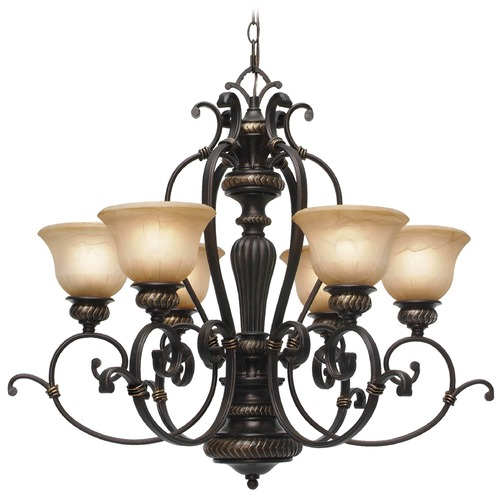 Golden Lighting Golden Lighting Jefferson Etruscan Bronze Chandelier 6029-6 EB