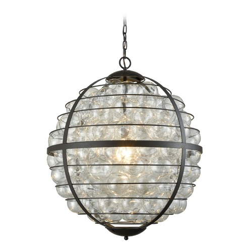 Dimond Lighting Dimond Skorpius Oil Rubbed Bronze and Clear Pendant Light D3148