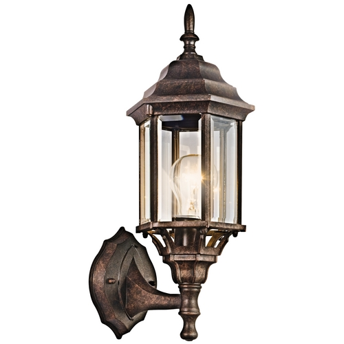 Kichler Lighting Kichler Outdoor Wall Light with Clear Glass in Tannery Bronze Finish 49255TZ