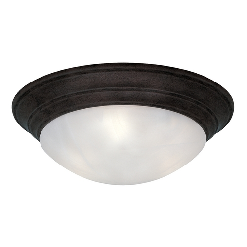 Designers Fountain Lighting Flushmount Light with Alabaster Glass in Oil Rubbed Bronze Finish 1245L-ORB