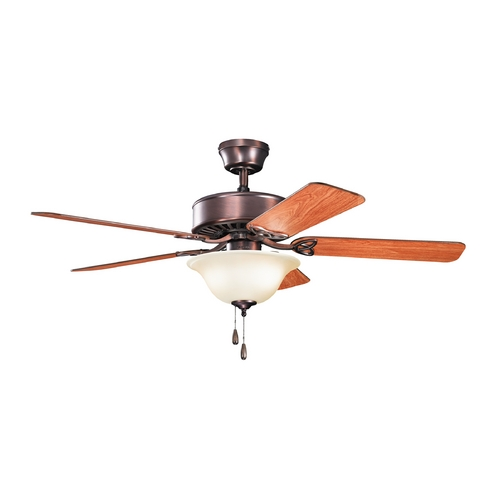 Kichler Lighting Kichler Lighting Renew Select Es Oil Brushed Bronze Ceiling Fan with Light 330103OBBU