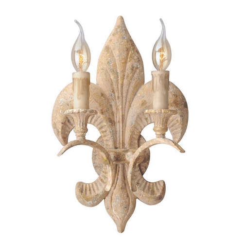 Troy Lighting Troy Lighting Chaumont Distressed Driftwood with Gold Leaf and Wood Accents Sconce B4032
