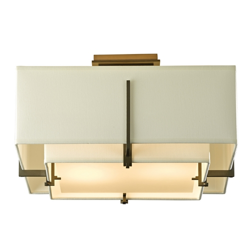 Hubbardton Forge Lighting Hubbardton Forge Lighting Exos Dark Smoke Semi-Flushmount Light 126507-07-QFNF