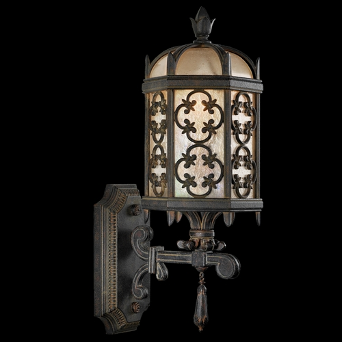 Fine Art Lamps Fine Art Lamps Costa Del Sol Marbella Wrought Iron Outdoor Wall Light 329881ST