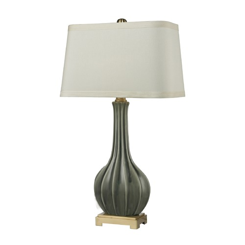 Dimond Lighting Dimond Lighting Grey Glaze, Antique Brass Table Lamp with Rectangle Shade D2595