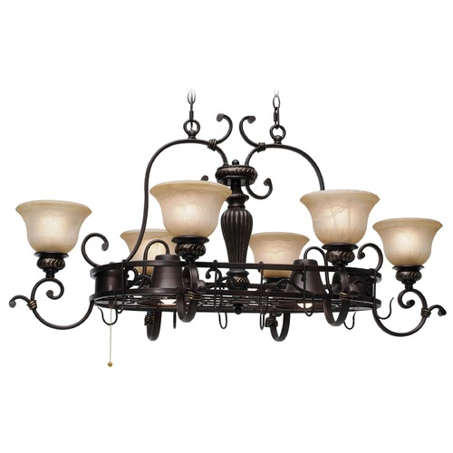 Golden Lighting Golden Lighting Jefferson Etruscan Bronze Chandelier 6029-PR62 EB