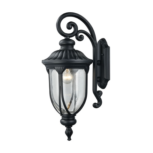 Elk Lighting Seeded Glass Outdoor Wall Light Black Elk Lighting 87101/1