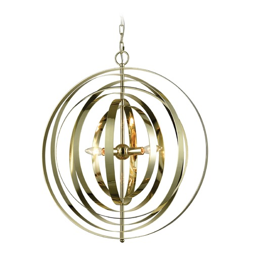 Dimond Lighting Dimond Synchrony Gold Plated Pendant Light D3150