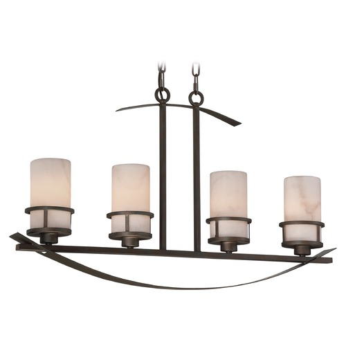Quoizel Lighting Quoizel Lighting Kyle Iron Gate Island Light with Cylindrical Shade KY433IN