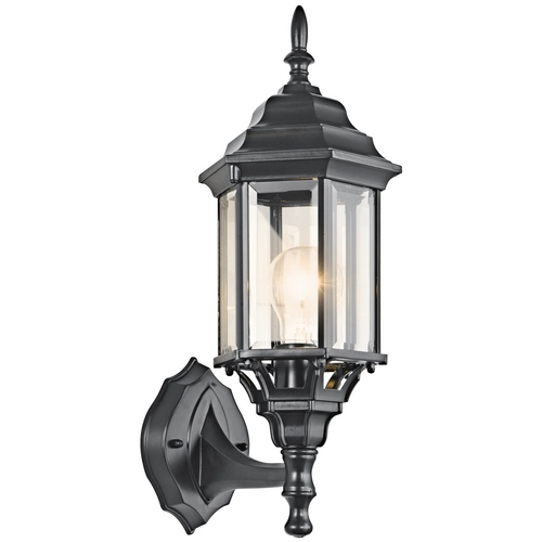 Kichler Lighting Kichler Outdoor Wall Light with Clear Glass in Black Finish 49255BK