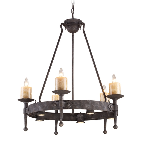 Elk Lighting Chandelier in Moonlit Rust Finish 14005/5+5