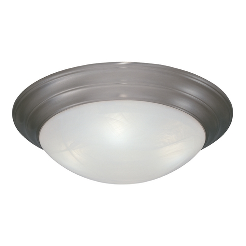 Designers Fountain Lighting Flushmount Light with Alabaster Glass in Pewter Finish 1245L-PW