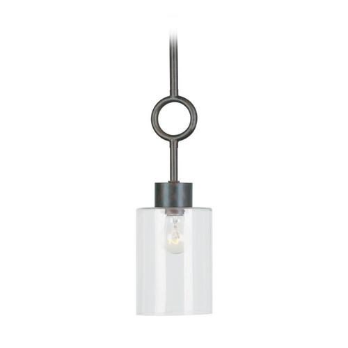 Crystorama Lighting Mini-Pendant Light with Clear Glass 9240-EB-CL