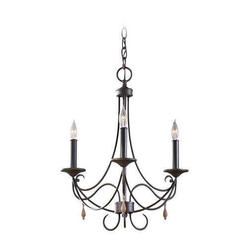 Feiss Lighting Mini-Chandelier in Rustic Iron Finish F2747/3RI