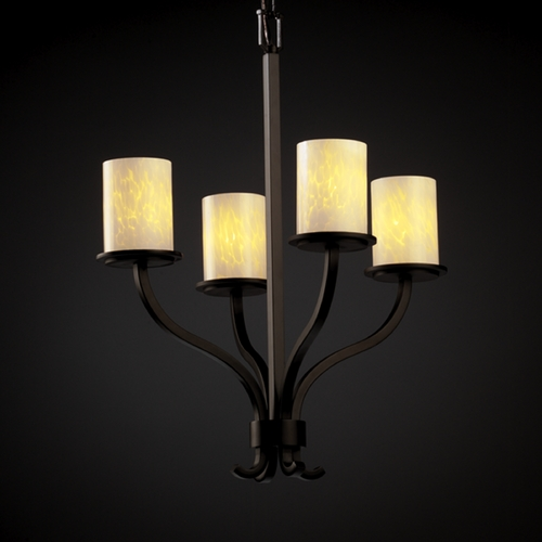 Justice Design Group Justice Design Group Fusion Collection Chandelier FSN-8780-10-DROP-DBRZ