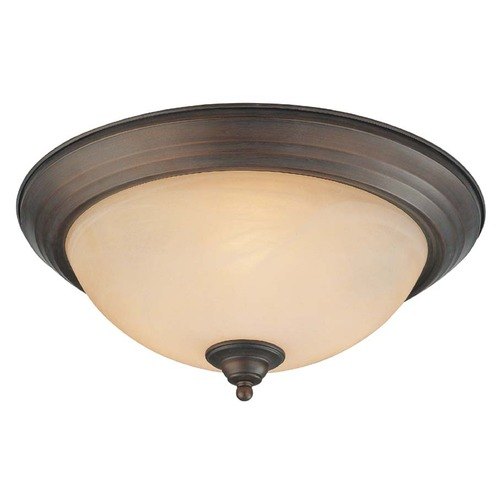 Craftmade Lighting Craftmade Oiled Bronze Flushmount Light 20015-OB