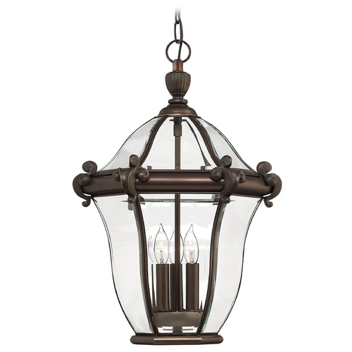 Hinkley Medium Outdoor Pendant Light in Bronze 2442CB