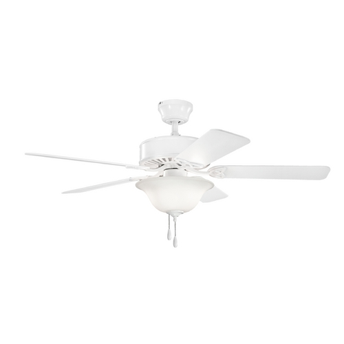 Kichler Lighting Kichler Lighting Renew Select Es White Ceiling Fan with Light 330103WH