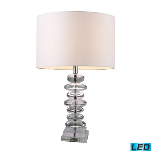 Dimond Lighting Dimond Lighting Clear Crystal LED Table Lamp with Drum Shade D1512-LED