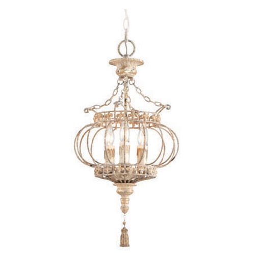 Troy Lighting Troy Lighting Chaumont Distressed Driftwood with Gold Leaf and Wood Accents Pendant Light F4035