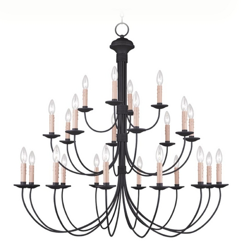 Livex Lighting Livex Lighting Heritage Black Chandelier 4537-04
