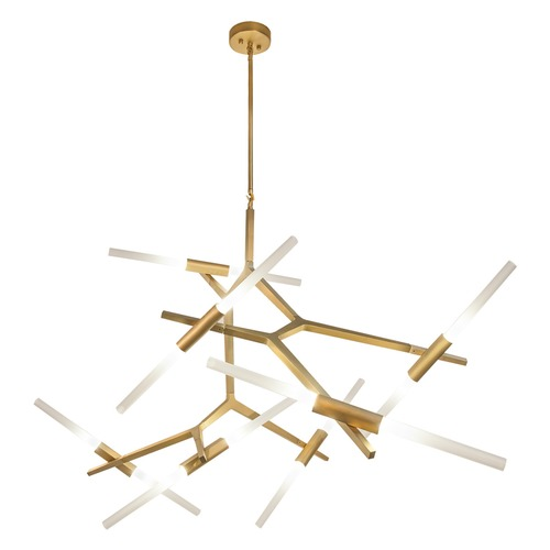 Avenue Lighting Modern 14-Light LED Chandelier in Brushed Brass HF-8060-14-BB