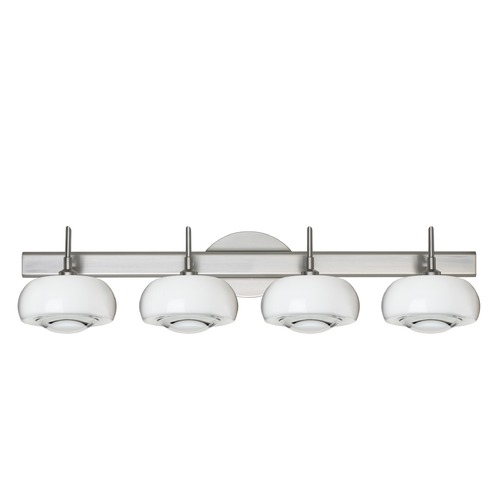 Besa Lighting Besa Lighting Focus Satin Nickel LED Bathroom Light 4SW-2634CL-LED-SN