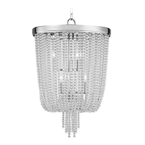 Hudson Valley Lighting Hudson Valley Lighting Royalton Polished Nickel Pendant Light with Bowl / Dome Shade 9018-PN