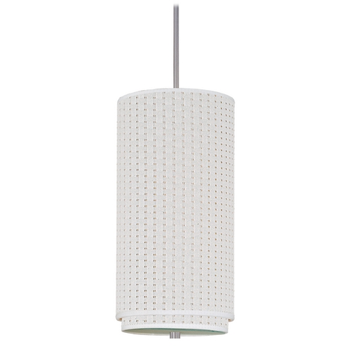 ET2 Lighting Modern Mini-Pendant Light with White Shade E95042-100SN