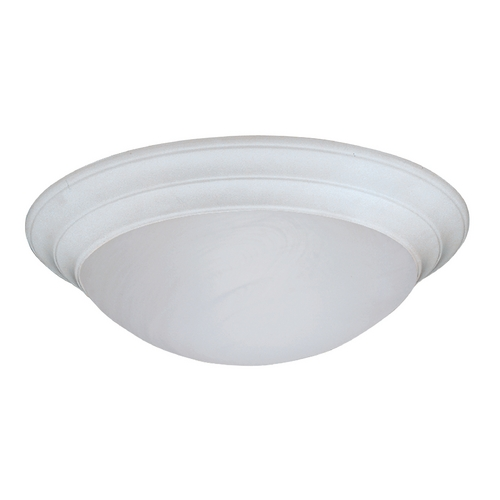 Designers Fountain Lighting Flushmount Light with Alabaster Glass in White Finish 1245L-WH