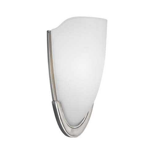 Progress Lighting Progress Modern Sconce Wall Light with White Glass P7087-09