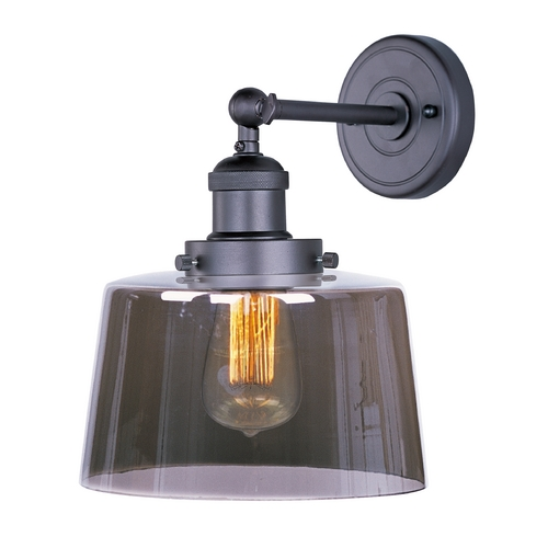 Maxim Lighting Sconce Wall Light with Clear Glass in Bronze Finish 25069MSKBZ/BUI