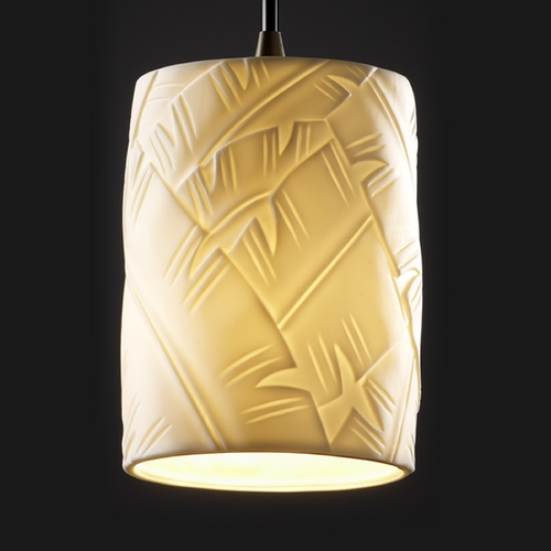 Justice Design Group Justice Design Group Limoges Collection Mini-Pendant Light POR-8815-10-BANL-DBRZ