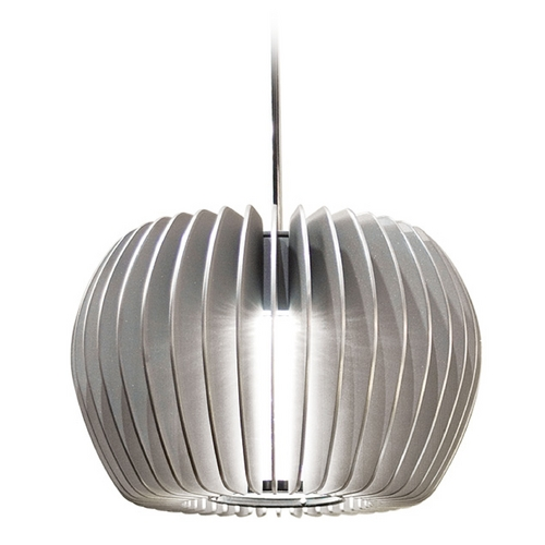 WAC Lighting Wac Lighting Industrial Collection Brushed Nickel LED Mini-Pendant with Drum Shade MP-LED315-PT/BN
