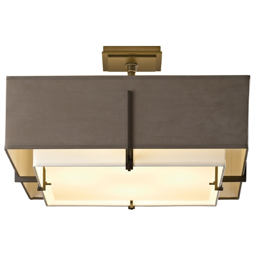 Hubbardton Forge Lighting Hubbardton Forge Lighting Exos Dark Smoke Semi-Flushmount Light 126510-SKT-07-SFSD