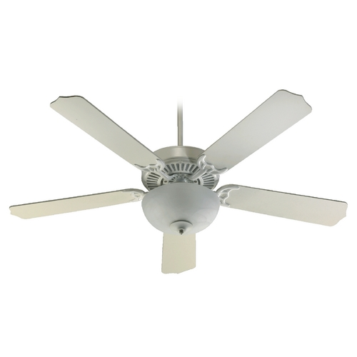 Quorum Lighting Quorum Lighting Capri Iii Studio White Ceiling Fan with Light 77525-9208