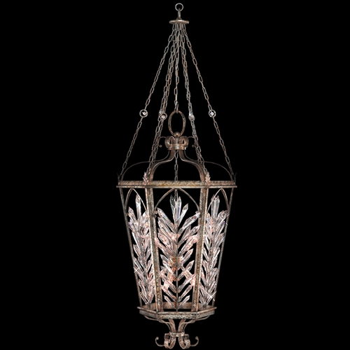 Fine Art Lamps Fine Art Lamps Winter Palace Antiqued Silver Pendant Light 301140ST