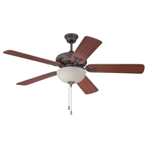 Craftmade Lighting Craftmade Majestic Aged Bronze/vintage Madera Ceiling Fan with Light MAJ52AGVM5C1