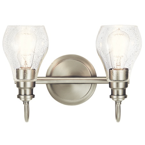 Kichler Lighting Kichler Lighting Greenbrier Brushed Nickel Bathroom Light 45391NI
