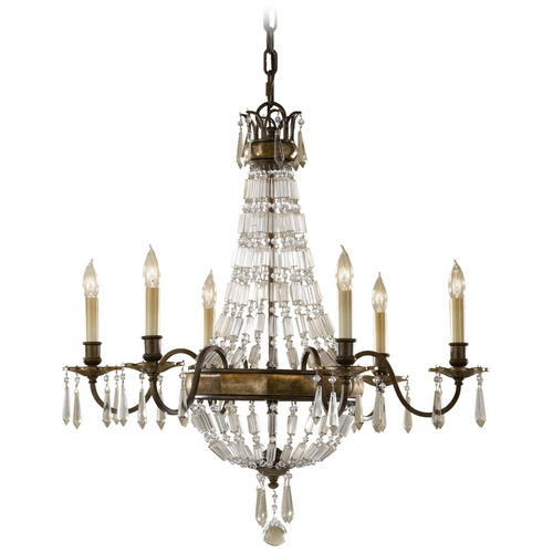 Feiss Lighting Chandelier in Oxidized Bronze/british Bronze Finish F2461/6OBZ/BRB