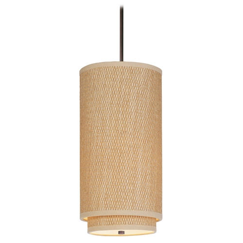 ET2 Lighting Modern Mini-Pendant Light with Brown Shade E95042-101OI