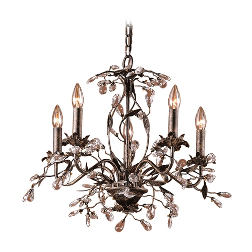 Elk Lighting Mini-Chandelier in Deep Rust Finish 8053/5