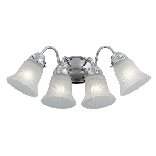 Designers Fountain Lighting Bathroom Light with White Glass in Chrome Finish 4414-CH