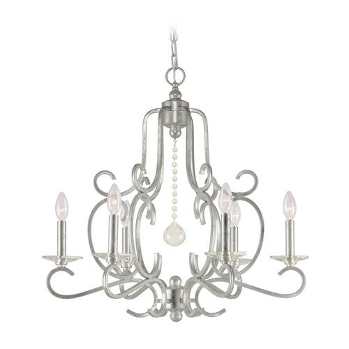 Crystorama Lighting Crystal Chandelier in Olde Silver Finish 9346-OS