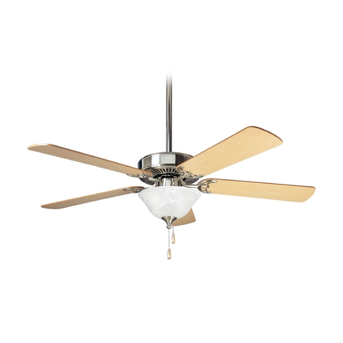 Progress Lighting Progress Ceiling Fan with Light with Alabaster Glass P2522-09